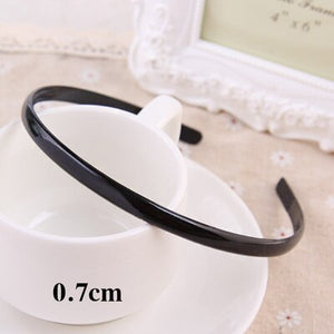 1PC New Fashion Korean Girls Simple Hairbands 4 Styles Unisex Black Hair Bands Metal Wavy Headbands For Women Hair Accessories