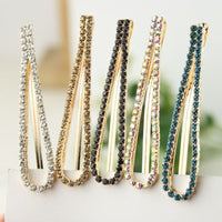 1PC Women fashion Bling Pearl Hair pins Headwear Girls Rhinestone