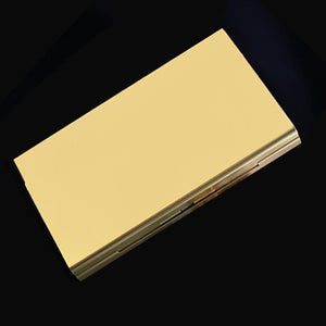 1Pc Portable Pocket Size Women Super Thin Creative Personality Cigarette Box 20 Stickers Ladies Metal Cigarette Gift Box Case
