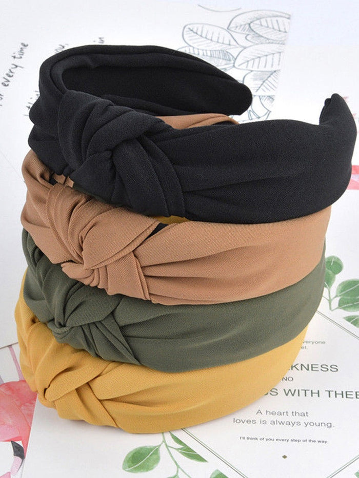 1pc Fashion Bow Knot Sport Hairbands Women Headwear Turban Hair Head Hoop Yoga Simple Sweet Girls Hair Headband Hair Accessories