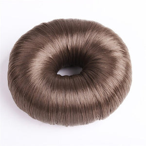 1pc Hot Women Synthetic Fiber Hair Bun Donuts Ring Blonde Hair Extension Wig H30423