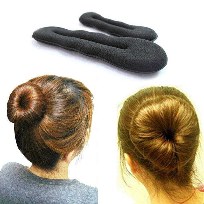 1pcs Hair Bands Magic Foam Sponge Hair Plate Bun Maker Former Twist Tool Styling Hairstyle Help Volume