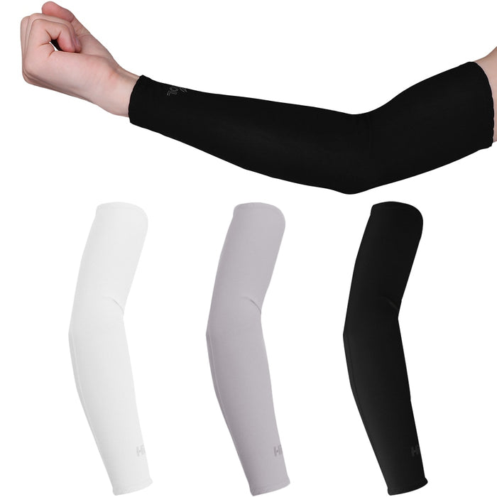 2 PCS Arm Sleeves Ice Fabric Sun UV Protection Cooling Warmer Arms Sleeve Summer