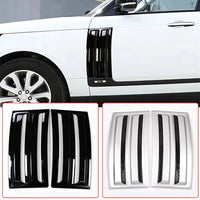 2pcs Car Parts Side Door Fender Air Vents Kit Cover Trim ABS Chrome For Land Rover