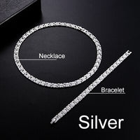 2 piece set stainless steel necklace bracelet jewelry female fashion sexy handmade chain hip hop rock heavy metal necklace gift