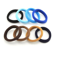 20 PCS 5 CM Mix Color Rubber Bands For Hair Brown Blue Hair Bands Black Gum Holders High Elastic Hair Accessories For Women Girl