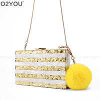 new dinner party bag a packet of bright party packet Acrylic Box Clutch Women wedding package Bag
