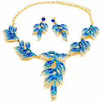 2016 costume handmade jewelry dinner sets fashion crystal 2 piece set women