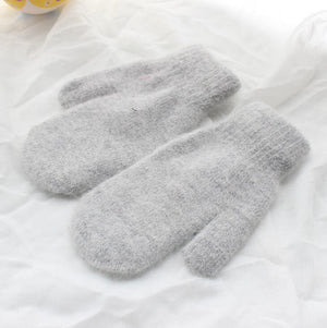 2020  New Female Winter Thick Knitted Cashmere Double Layer Plush Wool