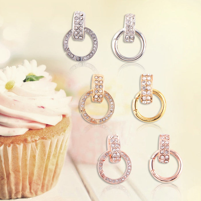 Newest Spring Clasp Dangle with CZ Crystal for My Holder Frame Pendant And Floating Memory Locket 10pcs/lot