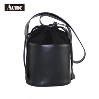 legend new stly leather bucket bag ,genuine leather women Drawstring Bags