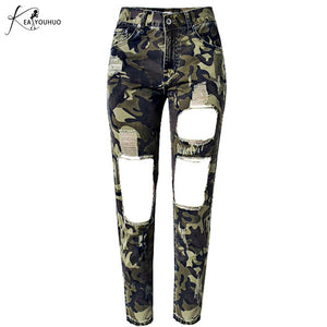 2018 Autumn Joggers Women Pants Military Female Army Camo Pants Female High