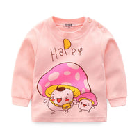 2018 Autumn Kids Tshirt Baby Boy Girls Clothes Cotton Children T-shirts For Boy Cartoon Print Long Sleeve Tops Boys T Shirts