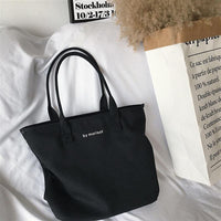 Recyclable Packaging Bag Shopping Bags Reusable Cloth Supermarket  letter Tote Fashion
