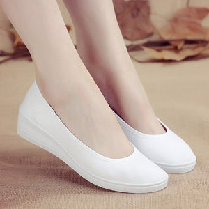 2018 Fashion New Womens Flats Casual Shoes Summer White Lady aa0734