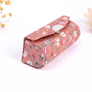 2020 Flower Printing Lipstick Box Cosmetic Bags Single Lipstick Storage Case
