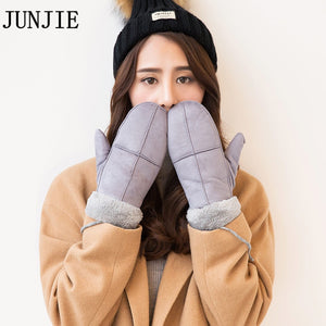 2020 High Quality Female Suede Mittens Glove Thick Gloves Women Mittens