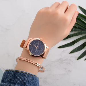 2018 Lvpai Women's Casual Quartz Mesh Belt Watch Analog Wrist Watch #D