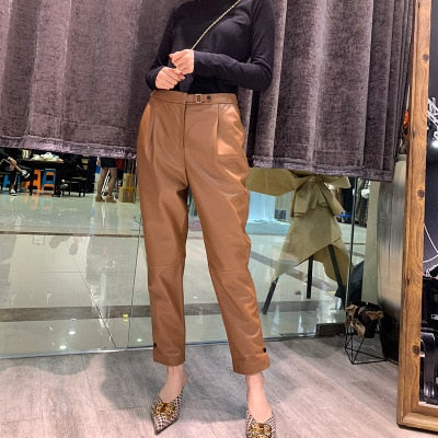 2018 New Fashion Genuine Sheep Leather Pants G25