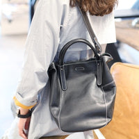 New Fashion Soft Real Genuine Leather Tassel Women Handbag Elegant Ladies Hobo Shoulder Bag