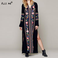 Summer Beach Dress Women Beachwear Embroidered Floral Kaftan Bikini Swimwear
