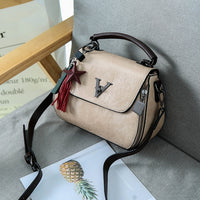 2018 Vintage Woman Geometry Small V Style Saddle Luxury Handbags Crossbody