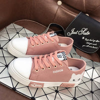 Women Cat Animal Prints Canvas Flat Autumn Female Lace Up Comfortable Shoes