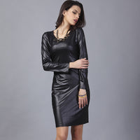 2018 spring autumn o-neck sexy work lady robe pencil slim women fashion dress