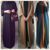 2019 Abaya Muslim Dress Robe Musulmane Islamic Clothing Caftan Turkish