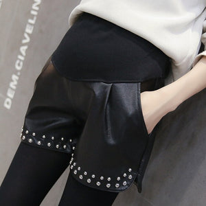 2019 Autumn And Spring New Women Leather Lift Pants Fashion
