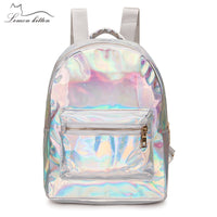 2019 Backpack New Women Backpack Mini Travel Bags Silver Laser Backpack Women