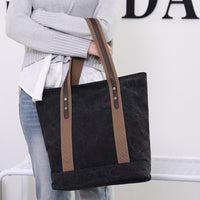 Canvas Bag Tote Handbags Ladies Hand Bags Women Shoulder Bag with Zipper Sac Main Reusable Ec Bag