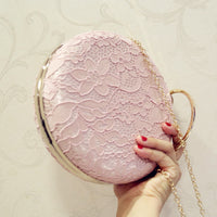 Lace Flower Box Women Clutch bag Dinner Wedding Bridal Party Hand Bag Vintage