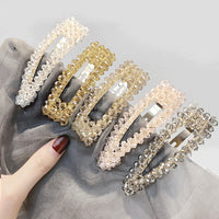 2019 Fashion Crystal Shiny Hairpin Barrette Girls Hair Grip Geometric Sparkly