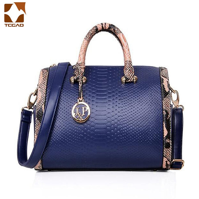 2019 Fashion Handbags Women Snake Print Single Shoulder Bag Fashion Handbags Black/Red/Blue Lady Shoulder bag crossbody bag Hot
