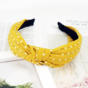 2019 Fashion Sweet Knot Hairbands Headbands For Women Girls Hair Bezel Print No Slip Wide Elastic Hair Band Hair Accessories