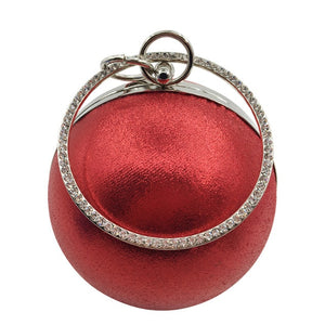 2019 Fashion Women Evening Bag Gold Silver Sequins Ladies Handbag Famous Brand Women Clutch Bag Small Round Chain Shoulder bags