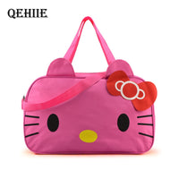 2019 Hello Kitty Travel Bag Large Capacity Woman Weekend Duffel Bag High Quality Cute Waterproof Clothes Quilt Organizer Package