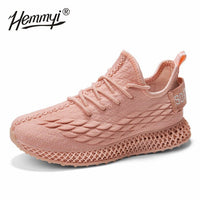 2019 High Quality 4D Women Sneakers Casual Luxury Shoes Women Designers Solid White Pink Green Fashion Walking Shoe Basket Femme