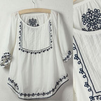 Sale Fashionh boho HIPPIE ethnic Tent mini tops white blouse,women clothing