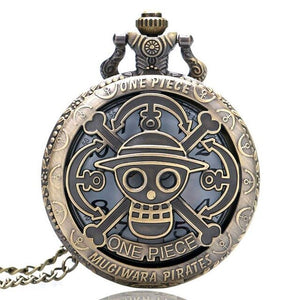 2019 Hot Selling Men's Japan Cartoon Anime One Piece Pocket Watch Fashion Men Women Necklace Chain Vintage FOB Steampunk Pendant