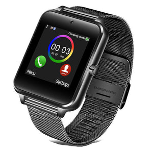 2019 Men Smart Watch Z60 Clock Sync Notifier Support Sim Card Bluetooth Connectivity for IOS Android Women Smartwatch GT08 2019