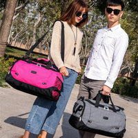 2019 NEW Leisure travel bag sports fitness large capacity multi-function solid color handbag