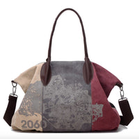 Arrival Time-limited Kvky Canvas Women Bag Handbag Brands Hobo Shoulder Large Capacity For Graffiti