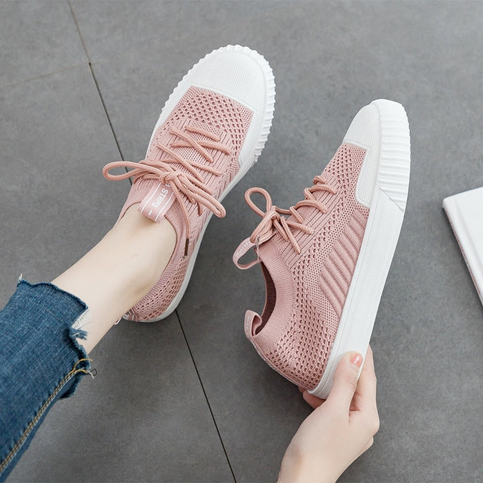 2019 New Fashion Breathable Vulcanized Ladies Sneakers Soft Bottom Casual Shoes Women Mesh Shoes Running Student Shoes