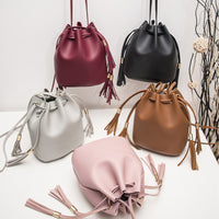 New Fashion Crossbody Single Shoulder Bag Double Tassel Casual Bucket Bag for lady  Party