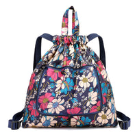 2019 New Fashion Fold Floral Drawstring Backpack Waterproof Nylon Sport Gym Rucksack