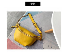 2019 New High Quality Genuine Leather Waist Pack Chest Bag Luxury Fashion Chain Shoulder Messenger Bags Women Handbags