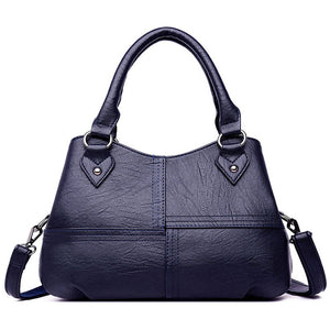 2019 New Hobos Bag Women Washed Leather Handbags Big Criss-Cross Patchwork Female Shoulder Bags Ladies Totes bolso grande mujer