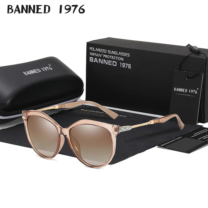2019 New Luxury HD Polarized Women Sunglasses Fashion Round Ladies Vintage Brand